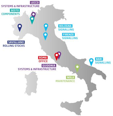 Sedi Alstom Italia